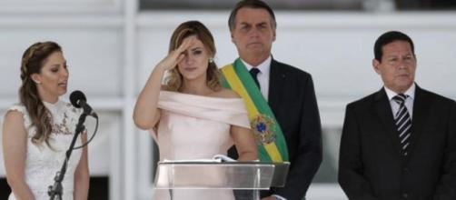 Michelle Bolsonaro pode estar na mira do MP. (Arquivo Blasting News)