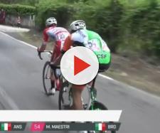 Marco Frapporti in fuga nella tappa di Frascati