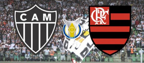 Atlético-MG x Flamengo ao vio terá transmissão exclusiva do Premiere. (Reprodução/ Montagem)