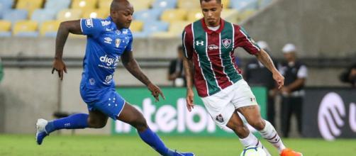 Cruzeiro e Fluminense durante partida no Maracanã (Divulgação/Lucas Merçon/Fluminense FC)