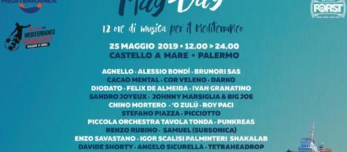 Locandina del MayDay 2019 a Palermo