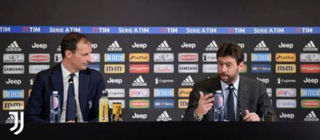Massimiliano Allegri e Andrea Agnelli