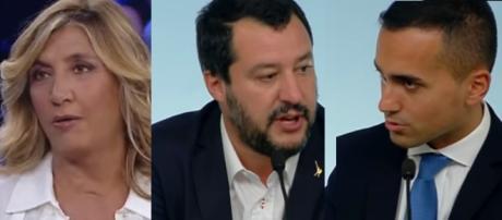 Myrta Merlino bacchetta Matteo Salvini e Luigi Di Maio