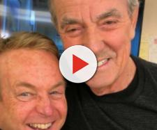 Doug Davidson and Eric Braeden happy to be working together again. [Image Source: Soap Central-YouTube]