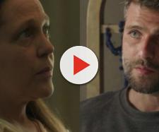 Judith e Gabriel em 'O Sétimo Guardião'. (Reprodução/TV Globo)