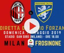 Serie A: 37ma giornata Milan - Frosinone ore 18. San Siro