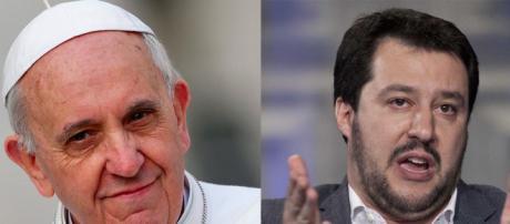 Scontro sui migranti tra Papa Francesco e Matteo Salvini