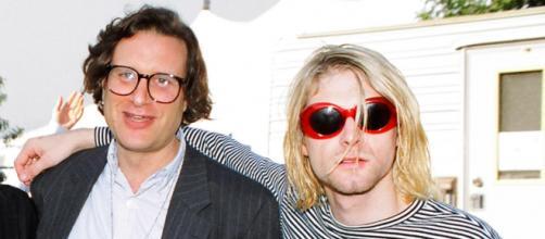 Danny Golderg, manager dei Nirvana, insieme a Kurt Cobain