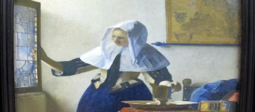 Jan Vermeer's Young Woman with a Water Jug [Image Source: wikipedia commons. Photographer Sailko]