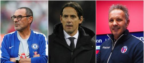 Maurizio Sarri, Simone Inzaghi, Sinisa Mihajlovic (foto: delinquentidelpallone.it; goal.com; corrieredibologna.corriere.it)
