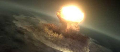A Nasa simulou a chegada de um asteróide na Terra. (Reprodução/ Nasa Scientific Visualization Studio)