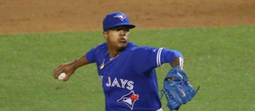 Through seven starts Stroman holds a 2.20 E.R.A. [image source: Arturo Pardavilla III- Wikimedia Commons]