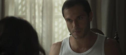 Aranha reconhece o serial killer. (Reprodução/TV Globo)