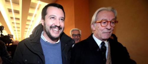 Matteo Salvini e Vittorio Feltri vanno a braccetto sulla legittima difesa