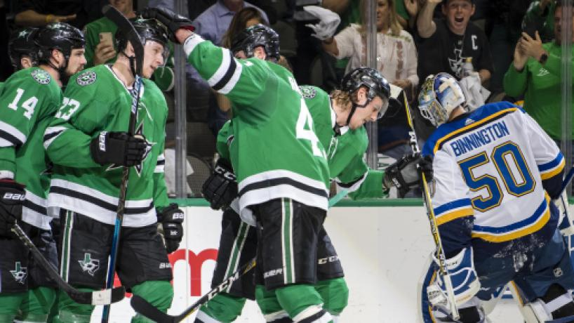 NHL Playoffs: Dallas Stars con velocidad y contundencia empatan su serie vs los Blues