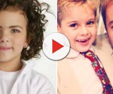 """""""Mini Ana Paula Arósio"""" e Dani Boy fizeram sucesso no passado. (Reprodução/YouTube/SBT)"""