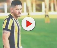 Polícia invade jogo de futebol em MG e prende Sonny Clay Dutra. (Reprodução/TV Globo)