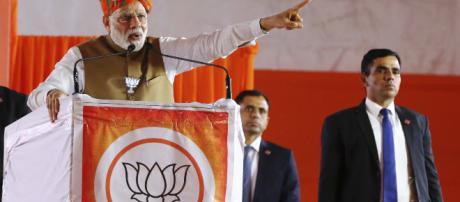 Modi campaigning in the general election. (BBC/YouTube/Screencap)