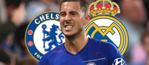 Hazard entre o Real Madrid e o Chelsea. (Arquivo Blasting News)