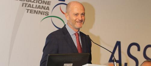 Il presidente della Federazione Italiana Tennis, Angelo Binaghi