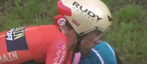 Vincenzo Nibali impegnato nella cronometro di San Marino
