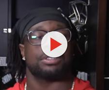 McCoy was recently released by the Buccaneers. [Image source: Tampa Bay Buccaneers/YouTube]