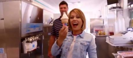 'Today' host, Dylan Dreyer, revisits her NJ hometown and gives support in the issue of infertility. [Image source:TODAY-YouTube]