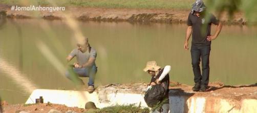 Represa de Gusttavo Lima apresenta risco de rompimento. (Reprodução/TV Anhanguera)
