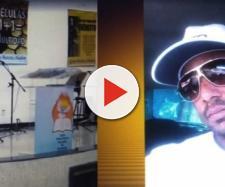 Imagens das câmeras de segurança registraram o momento em que o homem chegou ao local. (Reprodução/TV Globo)
