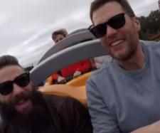 Tom Brady and Julian Edelman celebrated their Super Bowl win at Disney World. [Image Source: ESPN/YouTube]