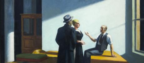 Conversation at Night, by Edward Hopper [Image source: Flickr/Sharon Mollerlus]
