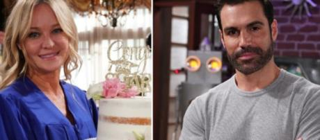 Sharon and Rey may split when he begins investigating Adam. (Image Source: Soaps She Knows Spoilers/YouTube)