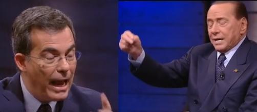 Giovanni Floris e Silvio Berlusconi, non sono mancati gli scambi accesi tra i due