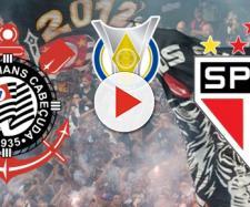 Corinthians x São Paulo ao vivo no Premiere. (Reprodução/Montagem)