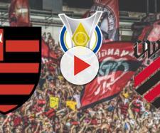 Flamengo x Athletico-PR ao vivo no Premiere. (Reprodução/Montagem)