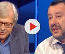Vittorio Sgarbi prende le parti di Salvini nelle querelle con la Chiesa.