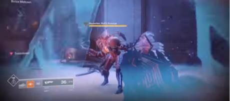 An Outbreak Perfected pulse rifle in action. [Image Source: Ninja Pups/YouTube]