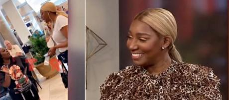 NeNe Leakes wasn't interested in a disgruntled fan at the airport. [Image source: Shade Room/Instagram screenshot   WUSA9/YouTube screenshot]