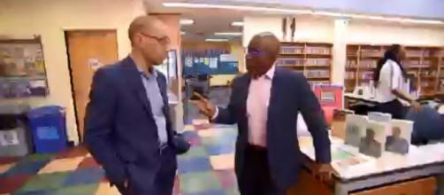 """Al Roker (R) remembers his young summer days at the Queens Library on his """"Today"""" visit for """"Hometown Glory."""" [Image source: TODAY-YouTube]"""