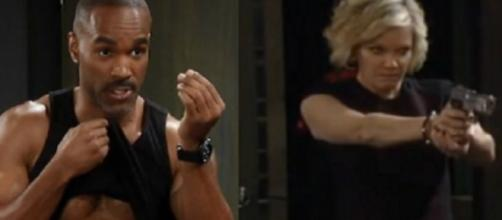 Curtis stuns Jordan and Ava shocks Scott because of Ryan. (Image Source: GH spoilers-YouTube.)