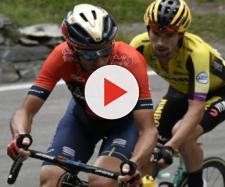 Nibali e Roglic nella tappa di Courmayeur