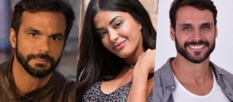 Antonio descobre mentira de Pedro e o acusa de ter matado Luciana. (Reprodução/Record TV)