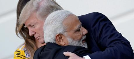 Trump hails India's Modi for election win. [Image Source: ABPnews/YouTube]