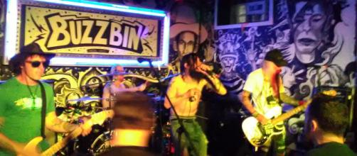 Infamous punk rock legends, The Murder Junkies, rock the Buzzbin stage. (Photo by author Samuel Earl Di Gangi)