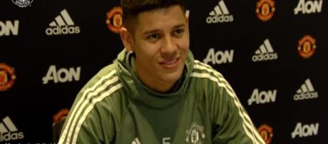 Manchester United's Marcus Rojo's convinced he'll stay another season - Image credit - Manchester United / YouTube