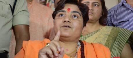 Sadhvi Pragya who defeated the Congress candidate- (Image credit: Kanaktv/youtube.com)