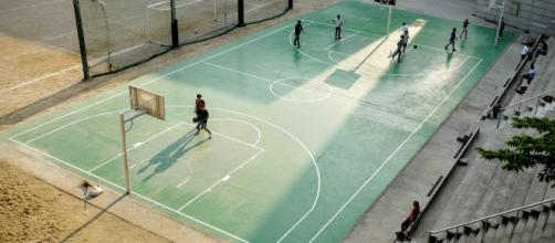 An image of a basketball court. - [Good Free Photos]