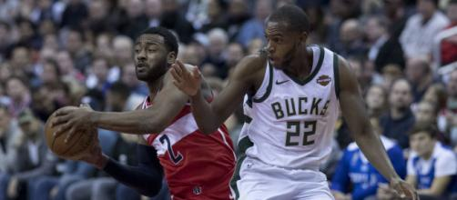 Khris Middleton will likely decline his player option to become an unrestricted free agent. [Image Source: Flickr | Keith Allison]