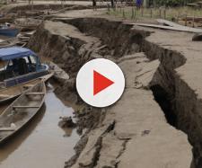 Fenomeno di liquefazione a causa del terremoto di magnitudo 8 del 26 maggio in Perù