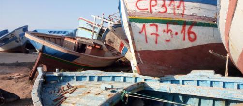 barche abbandonate a lampedusa